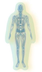 人間のエネルギーが二層になっているイメージ画像